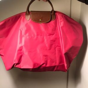 Extra Large LongChamp Pink Weekend Bag Tote